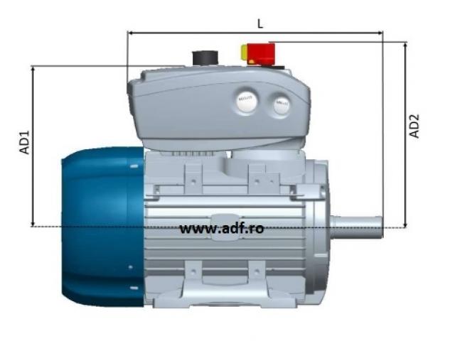 Motoare trifazate cu invertor incorporat